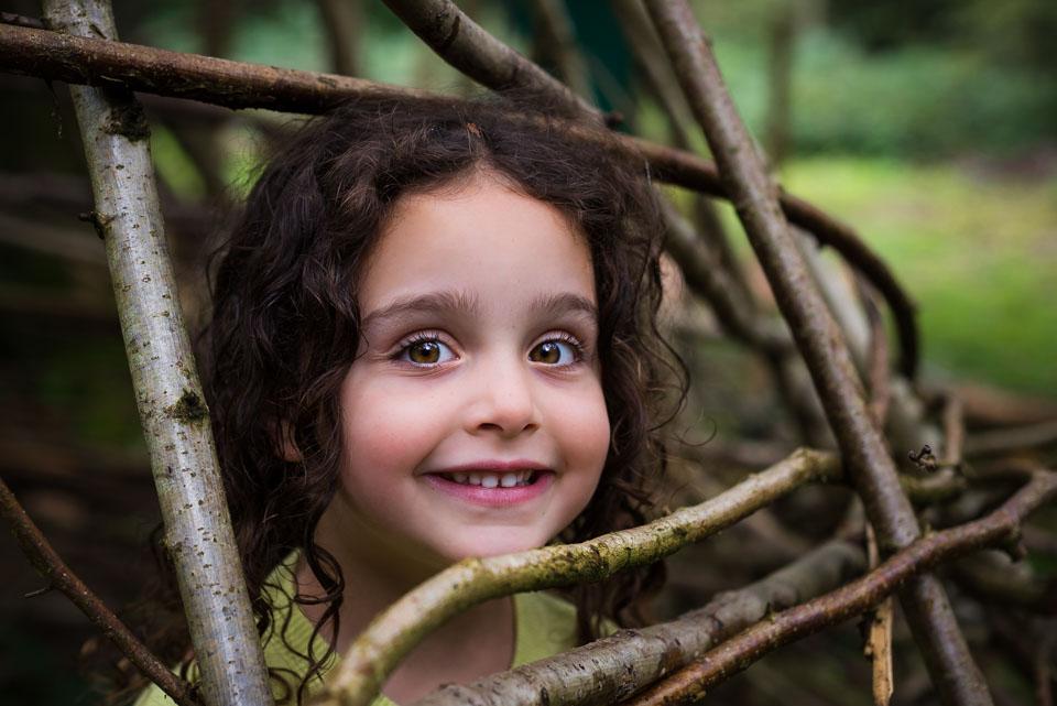 Building dens, county walks, Pembury, Kent, children's portraits by Sarah Hart Photography