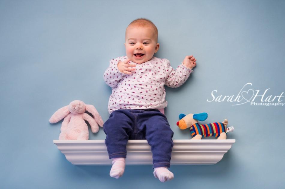 Shelfie baby photo, favourite toys, baby on a shelf, baby portrait, Crowborough
