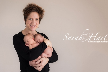 Twin newborn photography, mummy and baby pictures, Sarah Hart Photography, South East London and Kent