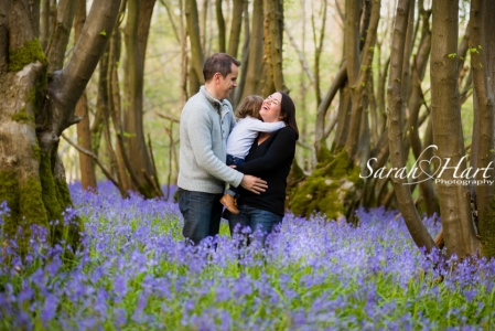 Family photos in bluebells,  Tonbridge and West Kent Family photographer