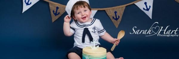 Sailor boy, #iamone, cake smash photographs, Kent photography, boy cake smash ideas