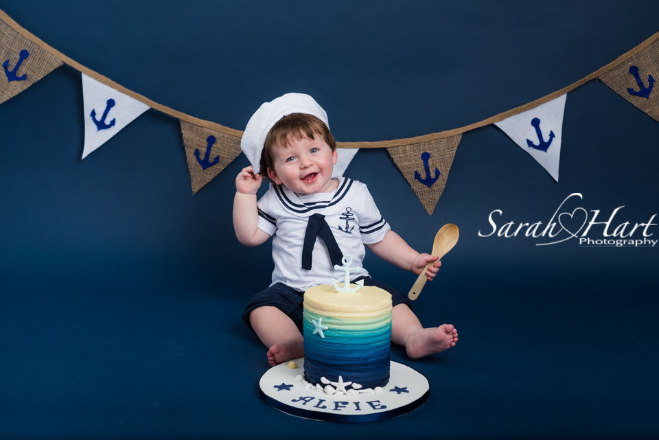 Sailor boy, #iamone, cake smash photographs, Kent photography, boy cake smash ideas