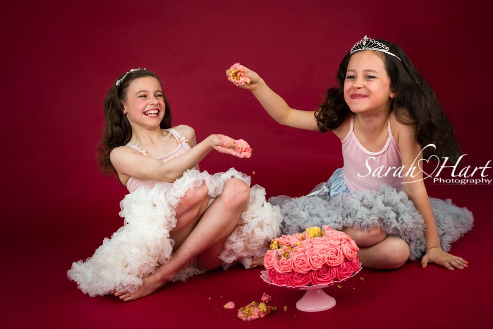 older girls cake smash session, photography by Sarah Hart, Tonbridge, Sevenoaks Photographer