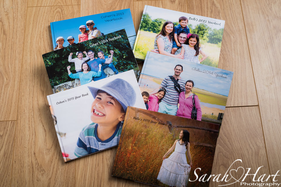 A collection of my family photobooks, get it printed, Tonbridge Photographer
