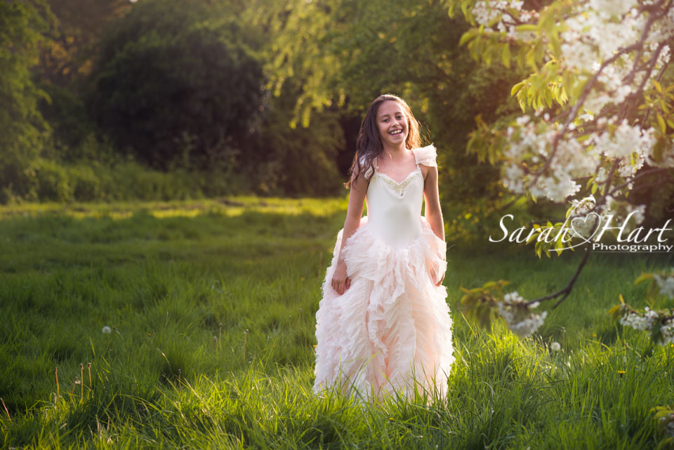 blossom photo session, sunset in Macy's Meadow, West Malling Kent