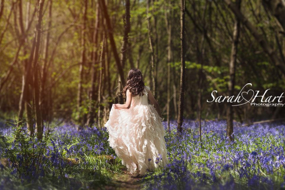 running through the bluebells, kent children's photographer