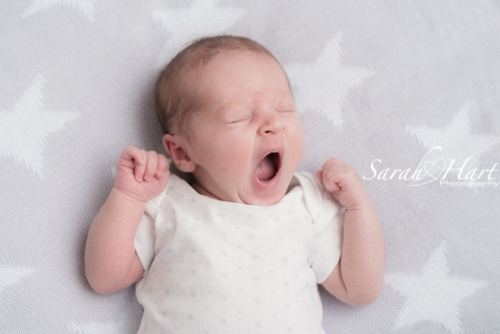 Baby yawns captured, experienced newborn photographer paddock wood, kent
