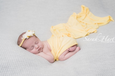 Beautiful newborn photography, grey and lemon, kent baby photo shoot