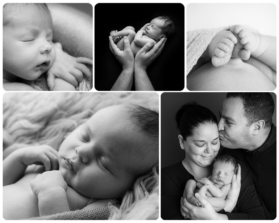 Newborn Black and White images - Sarah Hart Photography through Gift Time for KIds