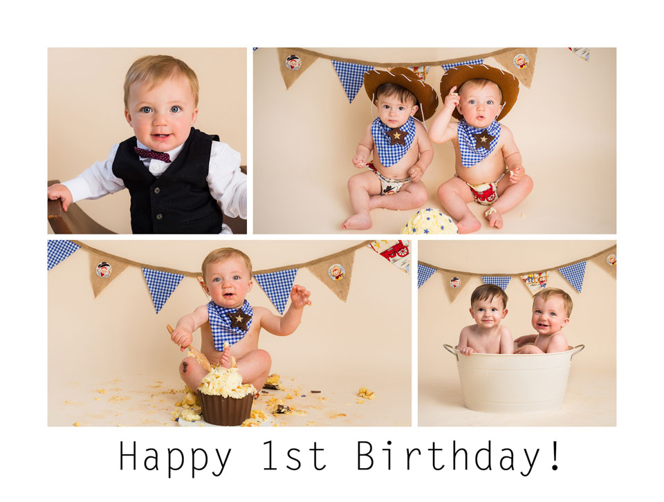 Boys Cake Smash images - Sarah Hart Photography through Gift Time for KIds