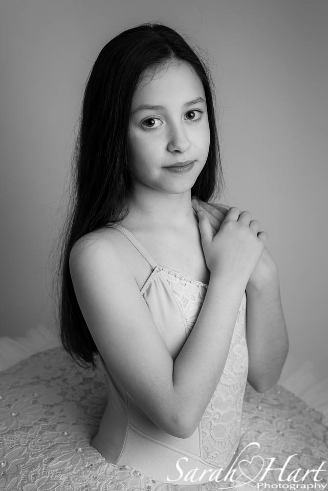 black and white portrait of a dancer