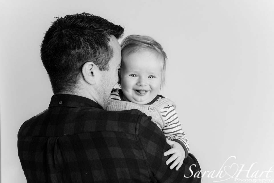 A daddy and his son, beautiful baby portraits by Sarah Hart, Kent baby photographer