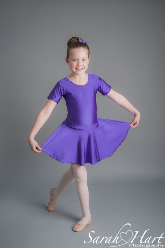 Ballet photography shoot for young dancer, competition winner