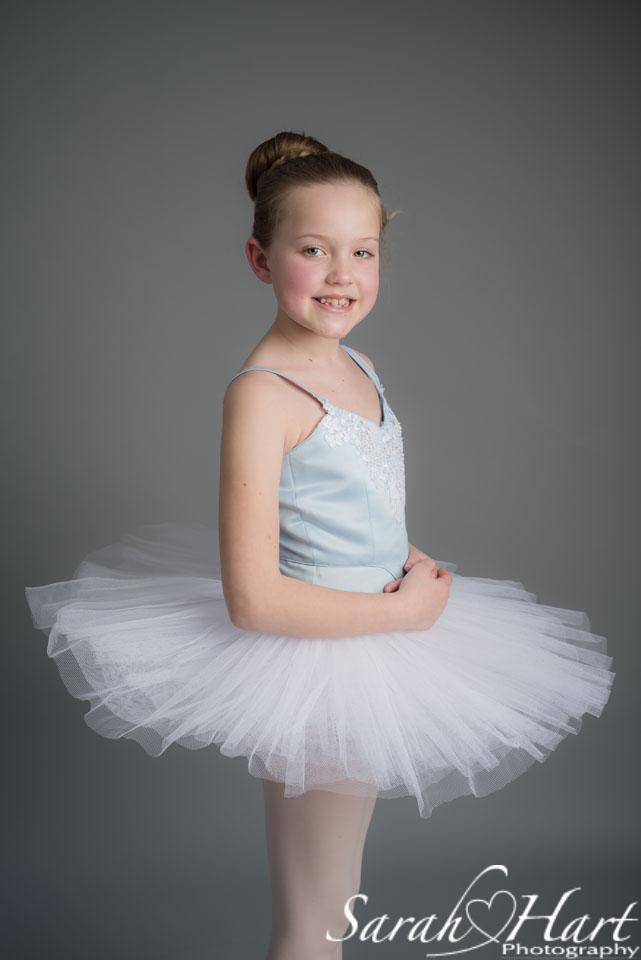 Pale blue tutu on young dancer, Sarah Hart Photography, Tonbridge & West Malling photographer