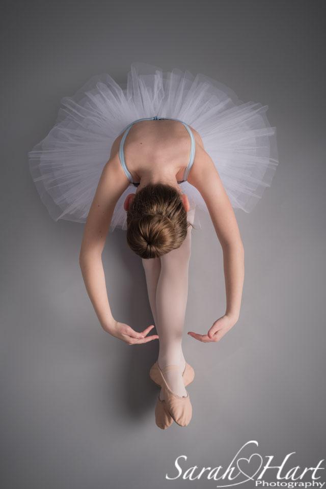 Young ballerina, dance photo shoot in Kent studio