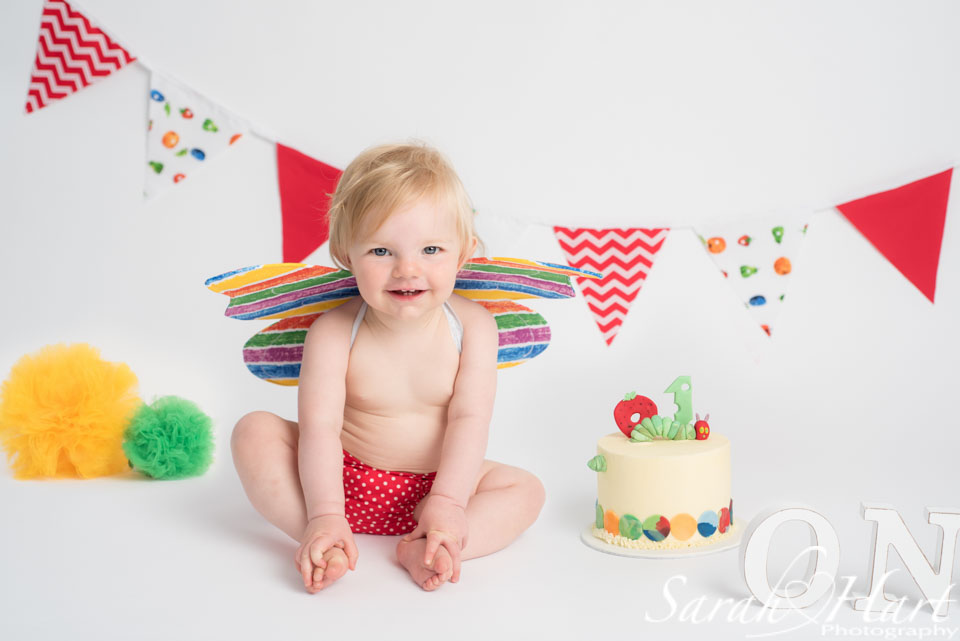 Hungry caterpillar cake smash sevenoaks photographer, kent baby photos