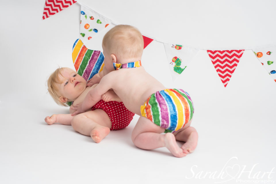 hungry caterpillar outfit and bunting, baby pictures, kent photographer