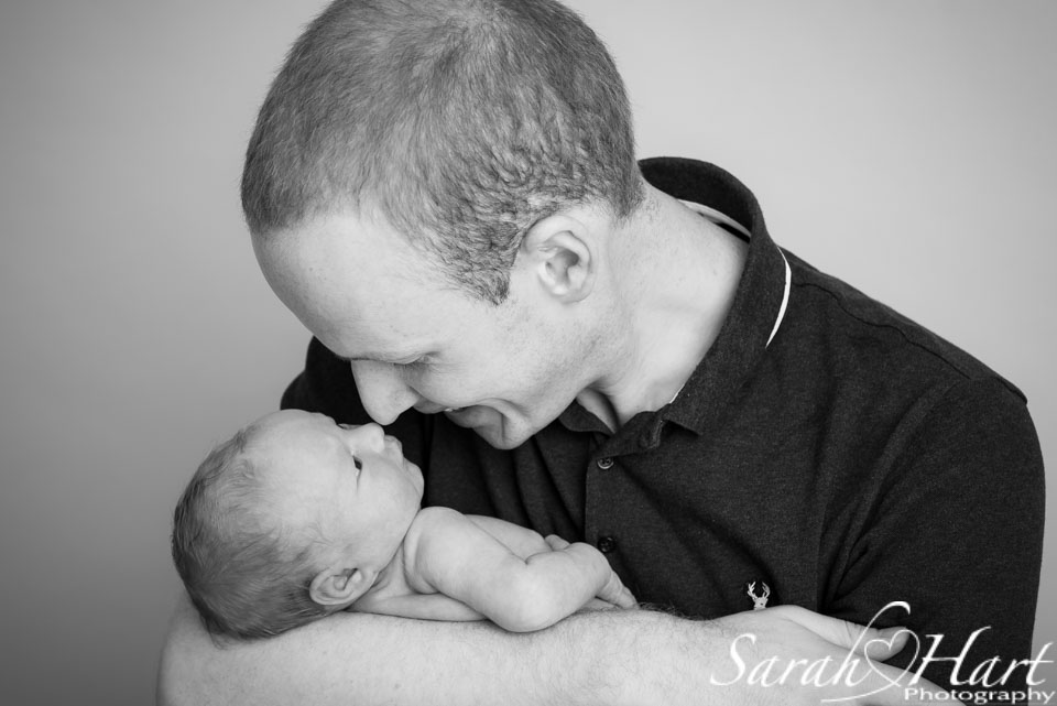 best baby photographer sevenoaks, kent, newborn and daddy