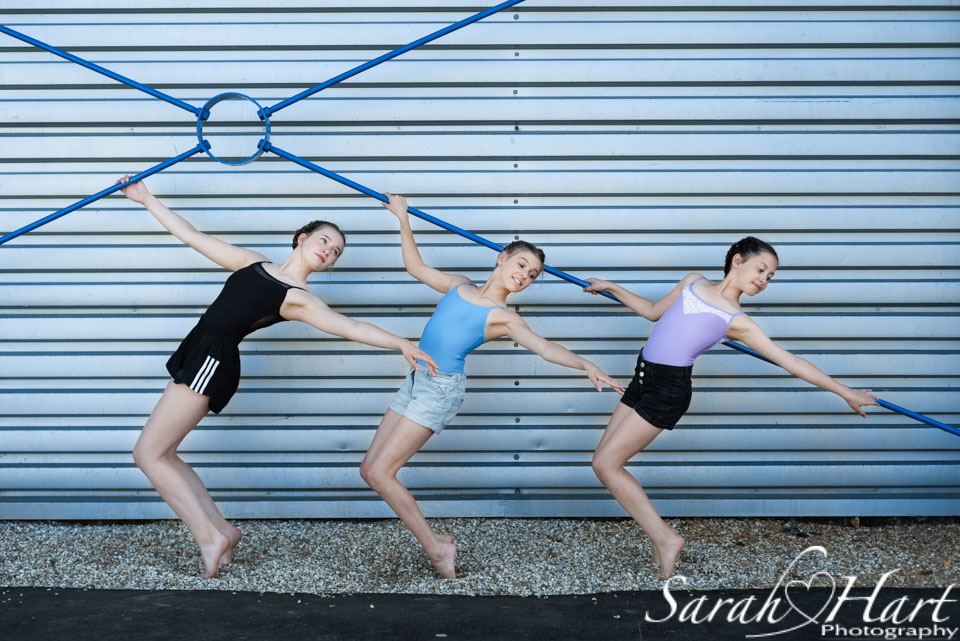 three dancing girls, strike a pose, crowborough dance photography