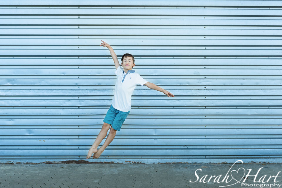 ballet boy, leaping for joy, dance photography in Crowborough