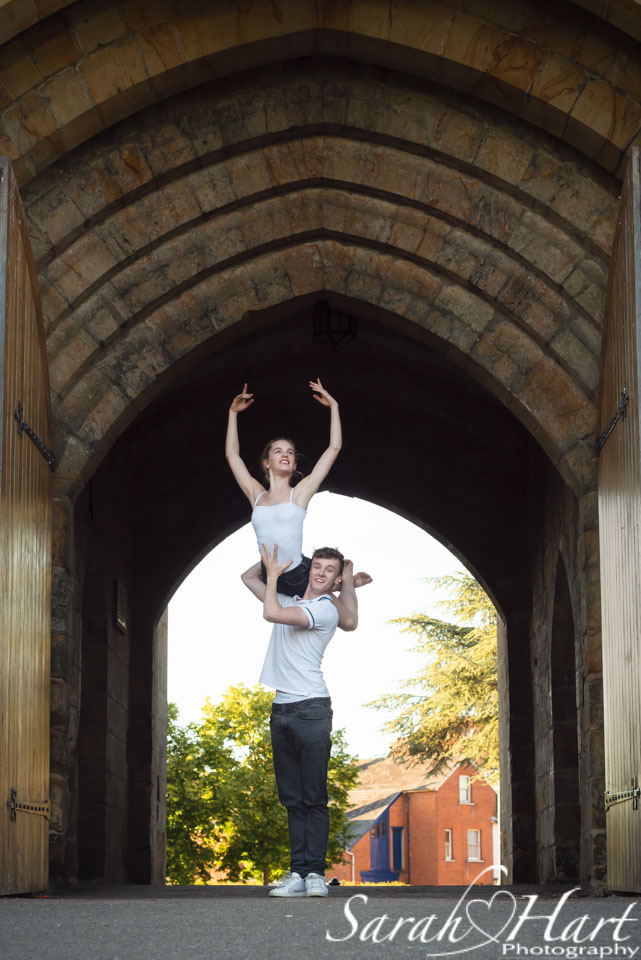 Royal Ballet School students pas de deux, Tonbridge castle door way