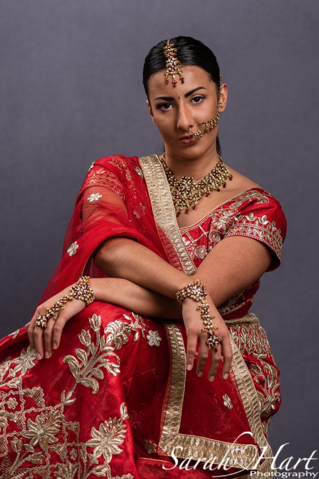 indian sari headshot, kent photographer Sarah Hart Photography