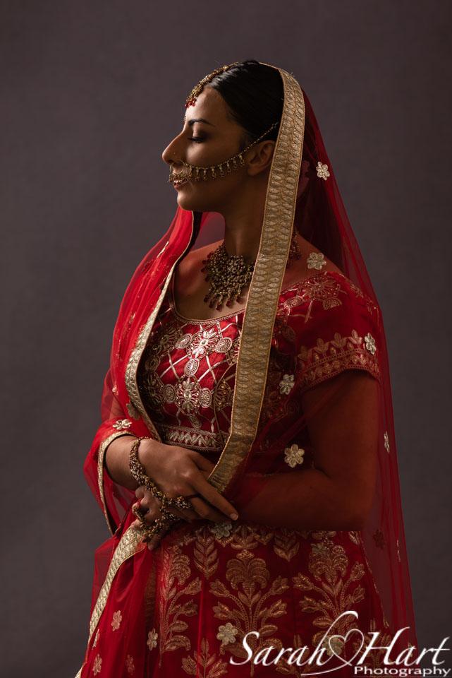traditional indian bride portrait, tonbridge photographer