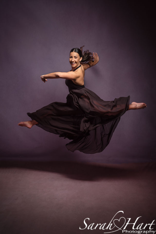 sevenoaks dance photographer dancer leaping, dance headshots