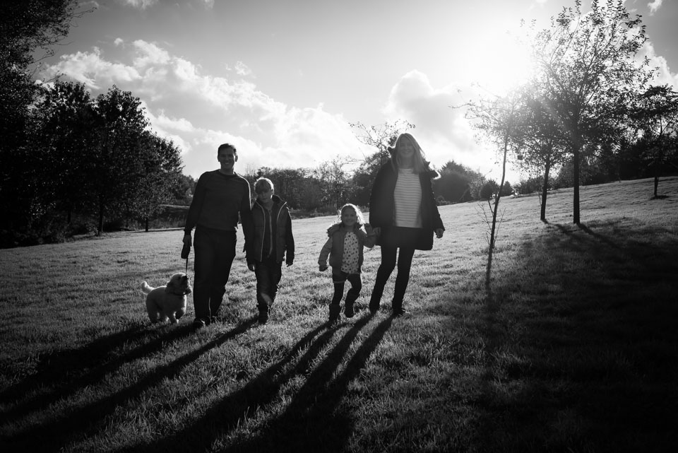 Black  and white family photography, lifestyle photograph, Bedgebury Pinetum, Kent and Sussex photographer