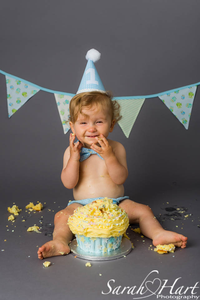 First birthday cake smash, Kent cake smash photography