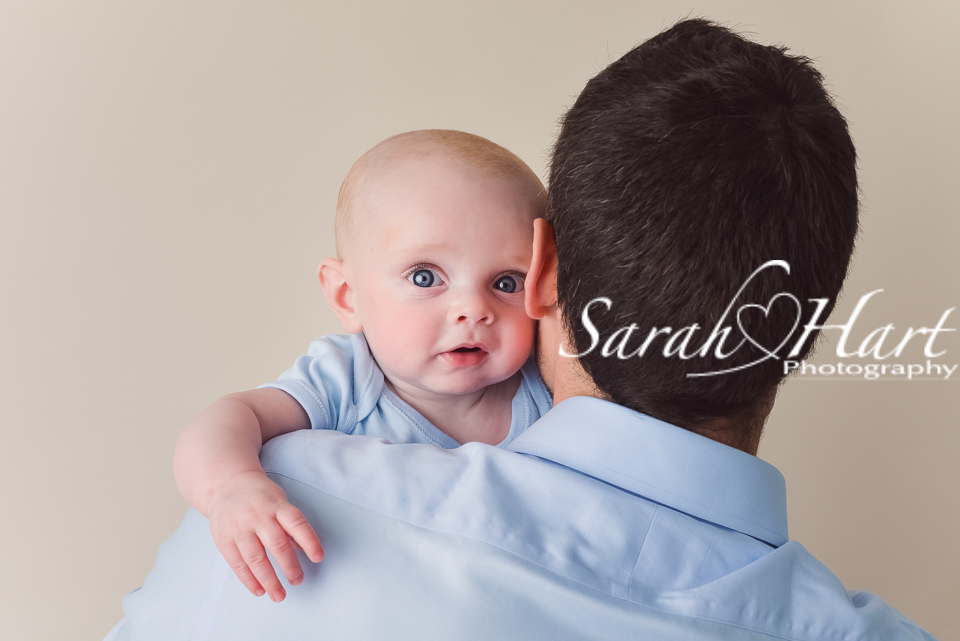 Father and son, baby pictures, baby blue eyes, Tonbridge photographer