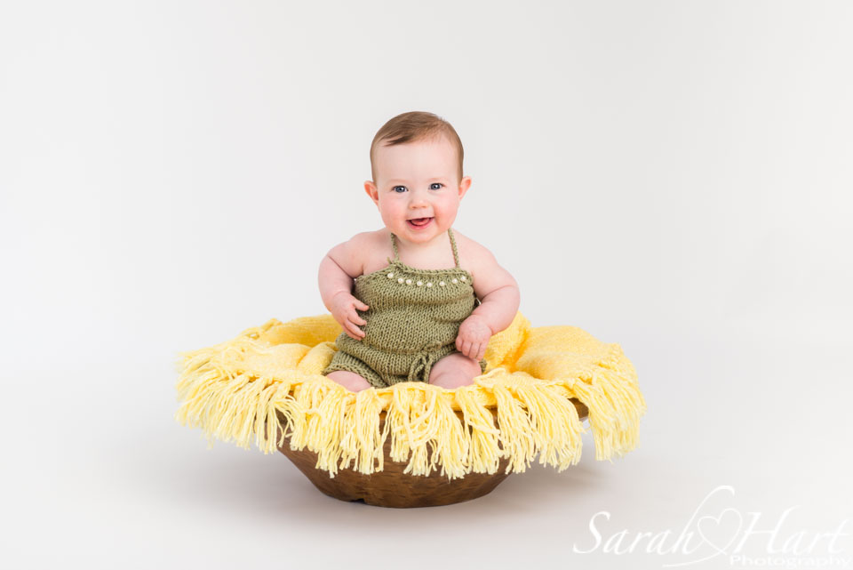 baby girl in spring theme photoshoot, sevenoaks baby photography
