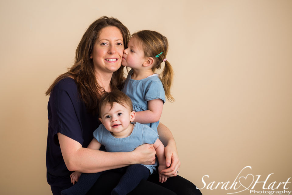 Be in the photos for your children, Kiss for mum, photography by Sarah Hart, South East photographer