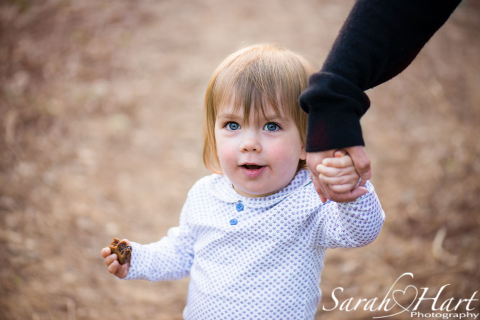 walk in the woods, holding mum's hand, Tonbridge family photographer