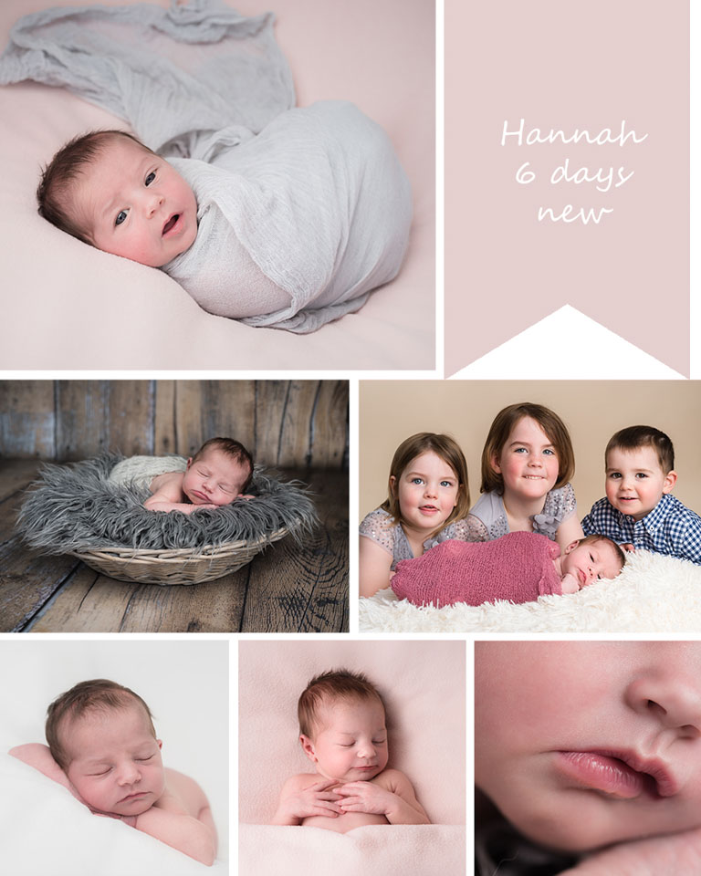 fourth child in the family at her newborn photography session