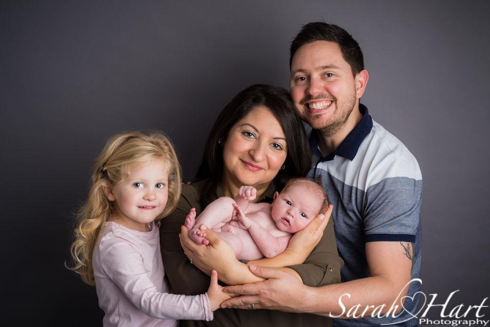 Family photographs with your newborn, photoshoot in Tonbridge