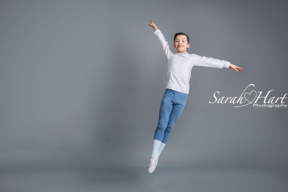 leaping in the air, boys do ballet, dance photography tonbridge