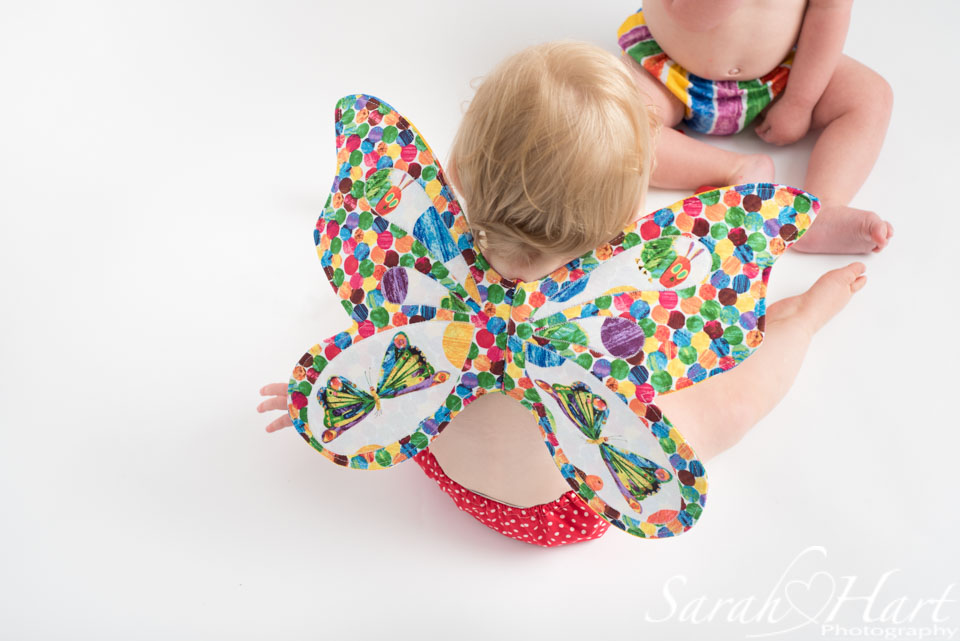 hungry caterpillar wings and outfit, tunbridge wells cake smash photographer