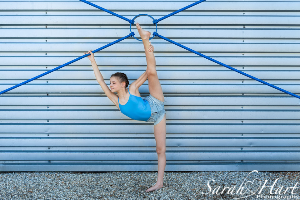stretching , a young ballet dancer, crowborough dance photography