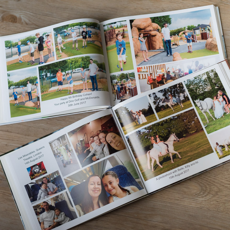 get your photos printed in and put in a family photo album