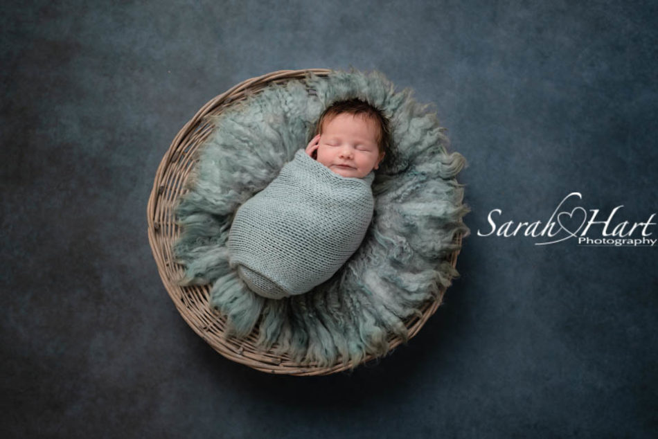 tonbridge newborn photographer, baby girl in blues,