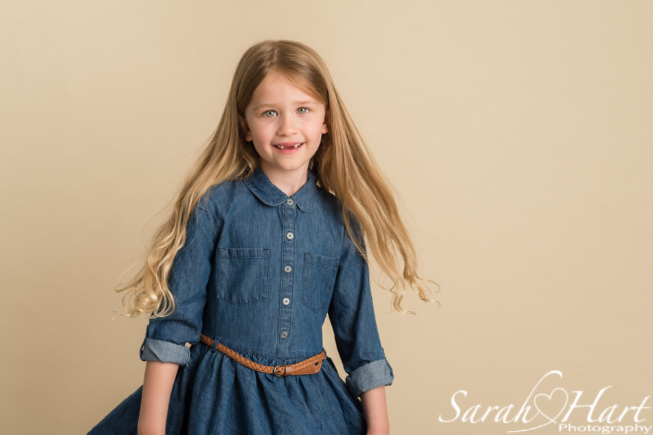 beautiful portrait of girl twirling, kent family photographer