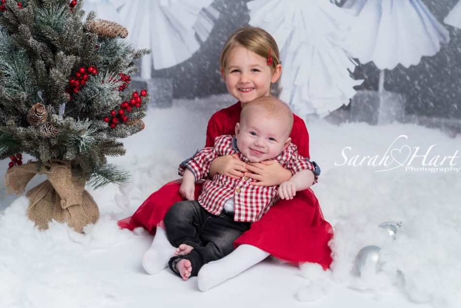 Snowy Xmas scene, photoshoot for babies and toddlers, Tonbridge Kent