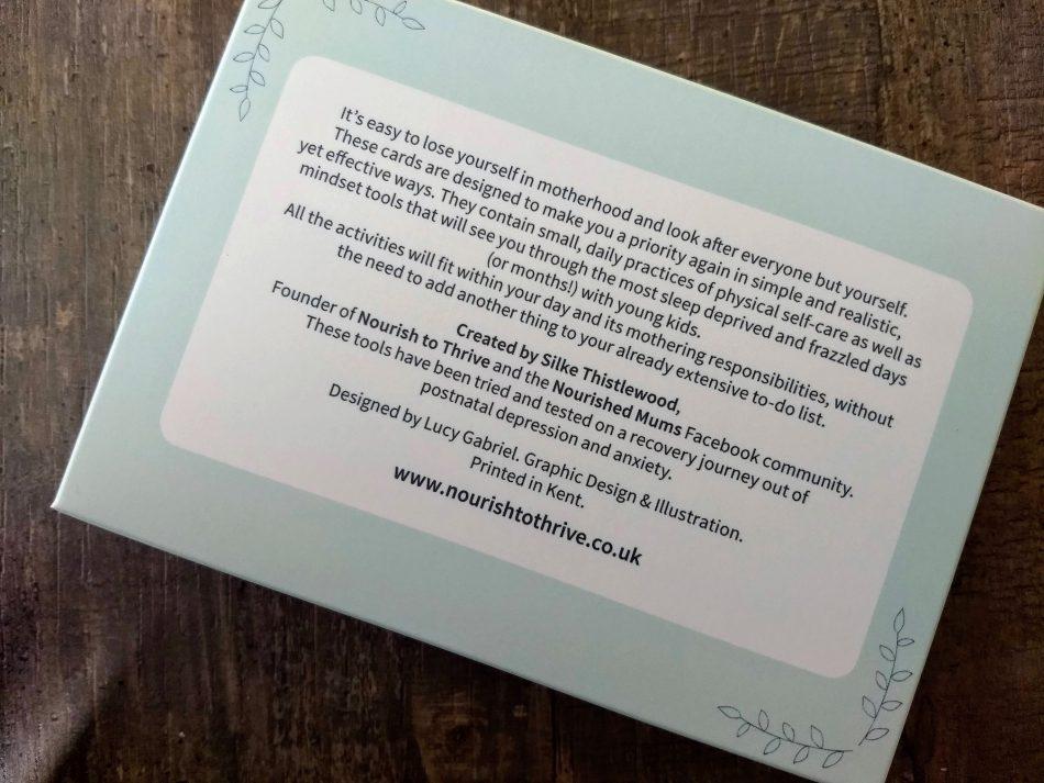Self care cards by Raise Up Mums, Tonbridge Kent