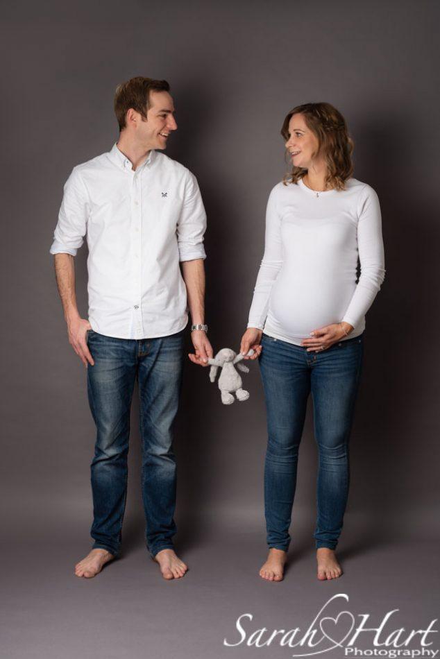 Studio maternity photographer, expectant parents, Tonbridge photography studio