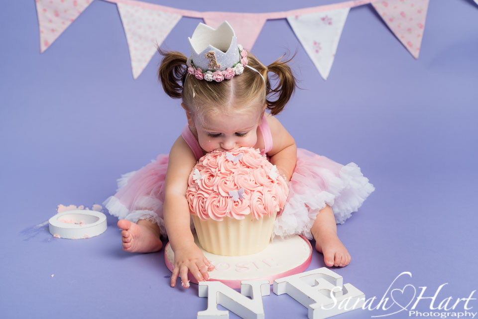 tunbridge wells cake smash, princess cake smash