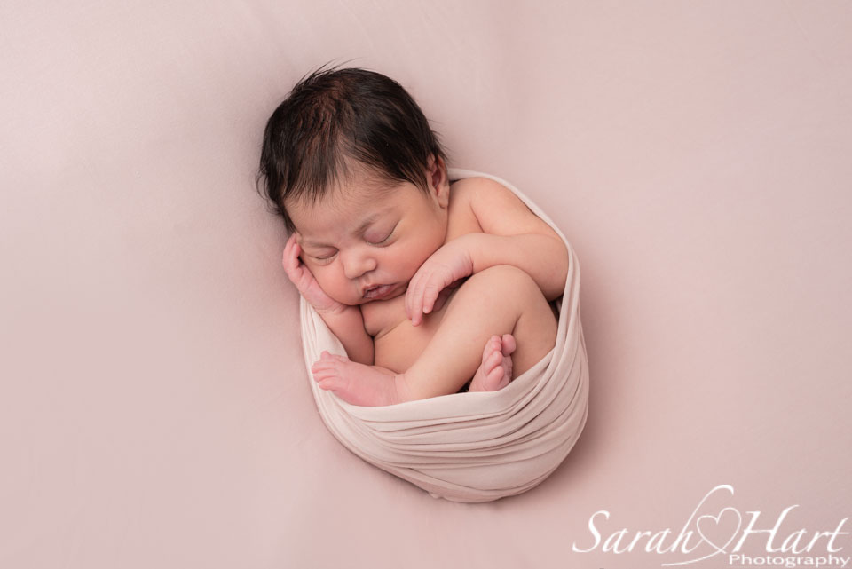 newborn swaddled, specialist newborn photographer