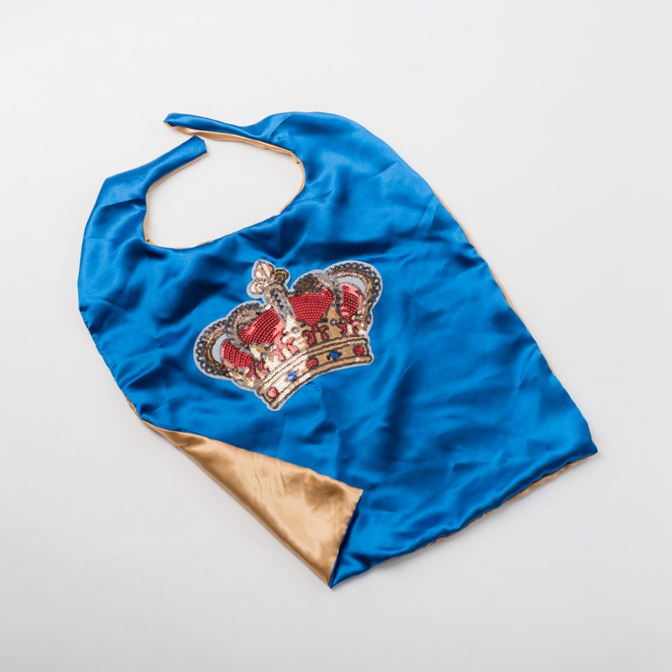 A cape fit for a King, designed by Sarah Hart Photography