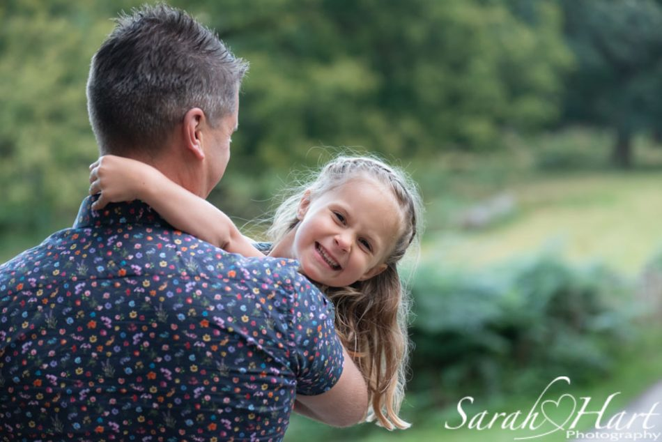 giggles with dad at Knole Park, sevenoaks