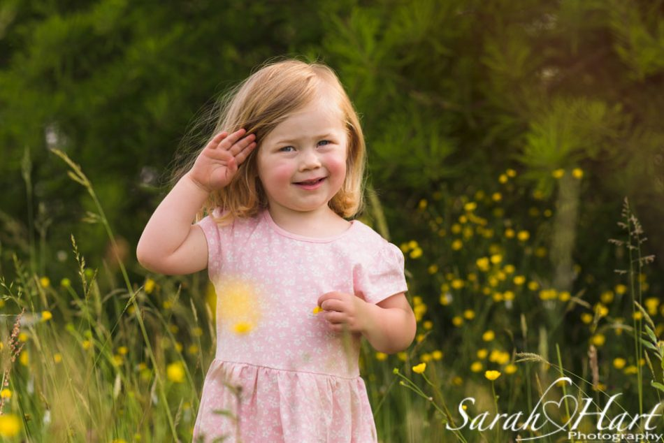little girl at Shipbourne Common on a family photoshoot